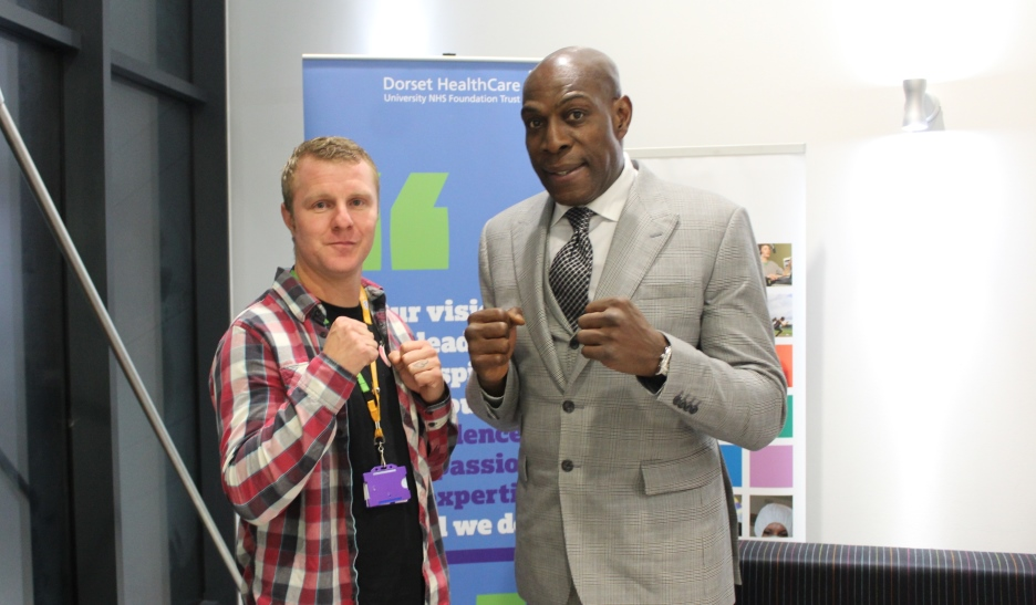 The gloves are off as Frank Bruno backs award-winning mental health initiative
